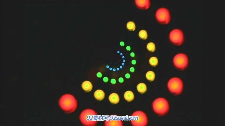 光斑排列圆圈旋转闪烁led动态背景视频素材