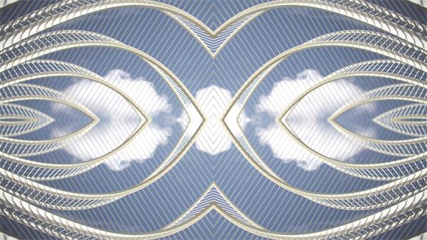 对称镜像云端变化覆盖形成梦幻般景象快速切换高清视频实拍