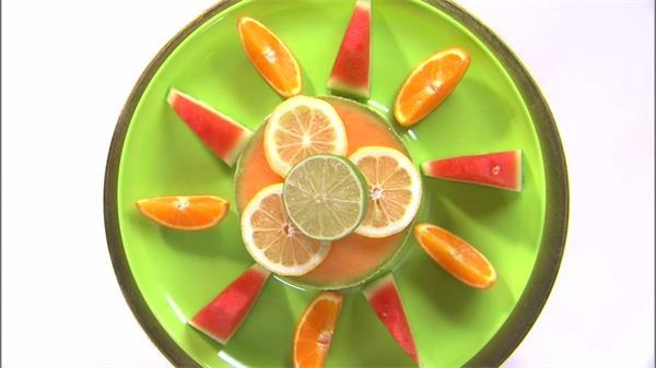 华丽精致水果拼盘旋转展示实拍高清视频素材