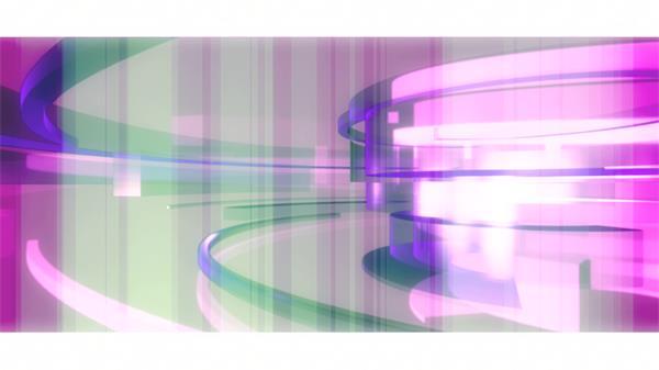 绚丽旋转分层排列紫色科技质感条形电视宣传栏目背景视频素材