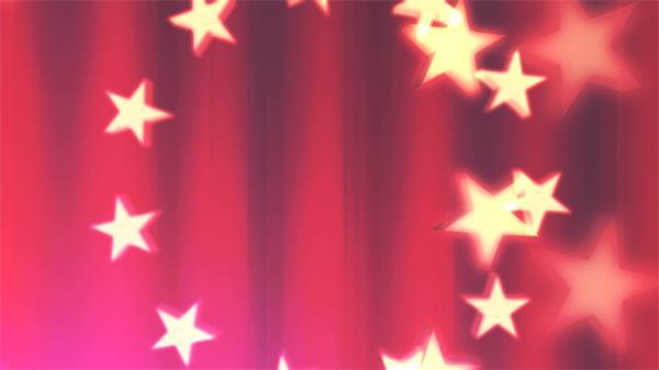 中国风红色条纹背景光效星星旋转绚丽展现屏幕动态背景视频素材