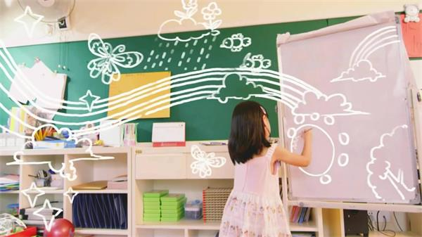 多彩丰富健康成长幼儿园实拍高清视频素材