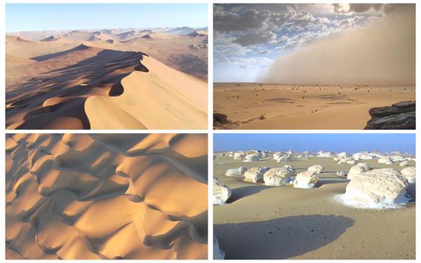 5款沙漠景象沙丘沙尘暴风蚀壮观景色沙漠镜头捕捉高清视频实拍