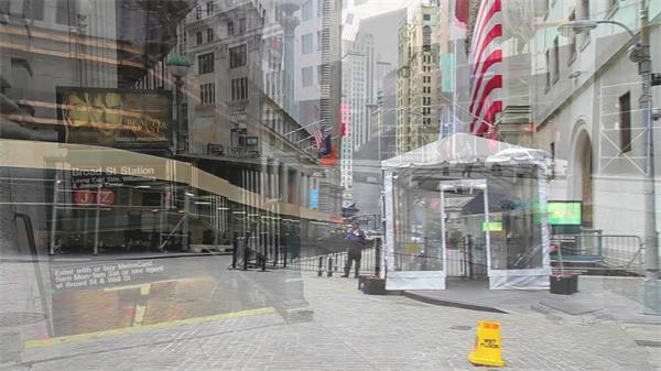 美利坚联合国城市街道行人实拍高清视频素材