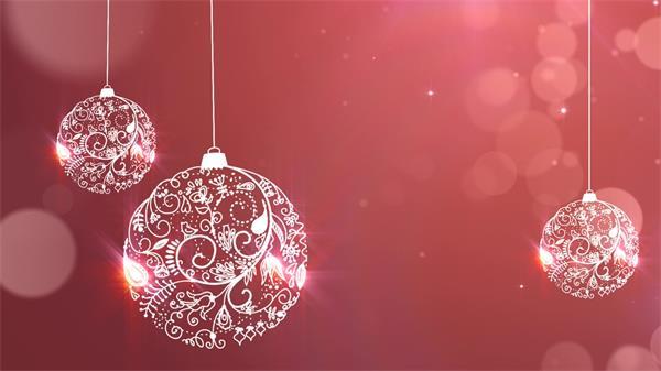 简洁炫光花纹吊球飘落粒子LED动态背景视频素材