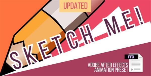 AE預設:卡通素描手繪抖動字幕標題動畫預設Animation Preset