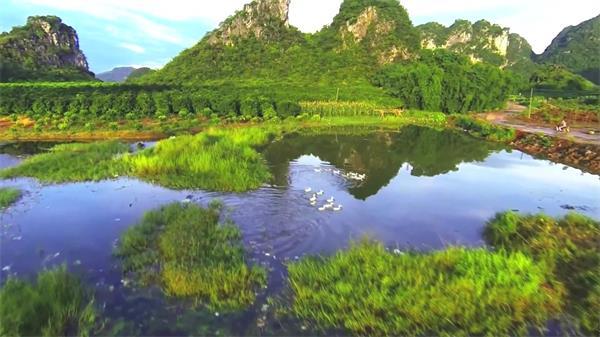 广东英德旅游景点好山好水美轮美奂实拍高清视频素材
