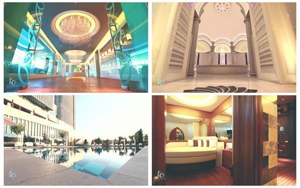 高端豪华五星级酒店室内装设配套设施健身休闲游泳高清视频实拍