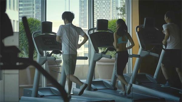 健身房游泳跑步运动实拍高清视频素材