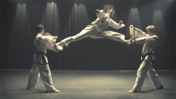 跆拳道格�Y武�g冷哼道表演展示��拍高清��l素材