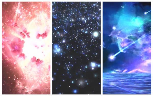 唯美千幻化化星空粒子星光飘浮光效变革LED配景静态视频素材