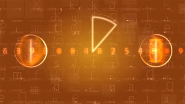 酷炫圆圈顺时针旋转数字倒数LED动态背景视频素材