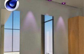 C4D插件:室内建筑IES局域光插件中文汉化版和使用教程AVK MyIESD