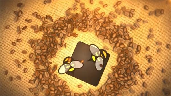 AE模板 简便炫酷光斑粒子散落企业产物LOGO标记告白模板 AE素材