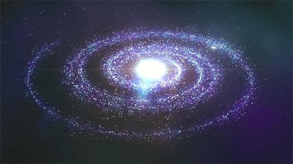 宇宙银河星球旋转发光粒子LED动态背景视频素材
