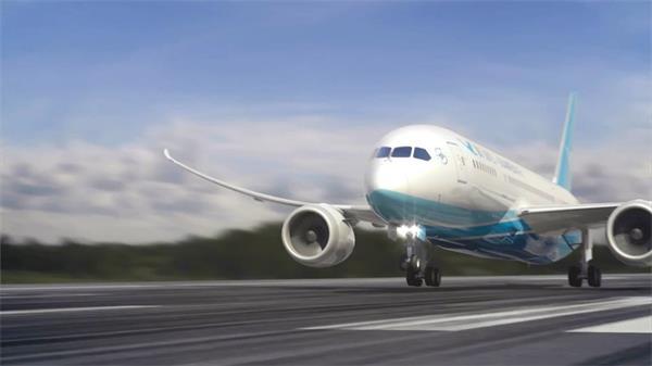 奢华整齐民航客机航空公司宣传告白片实拍高清视频素材