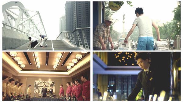 人物日常生活互相帮助豪华酒店员工形象特写镜头宣传高清视频实拍