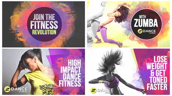 AE模板 具有活力几何遮罩水墨涂鸦效果炫酷舞蹈幻?#30772;?#27169;版 AE素材