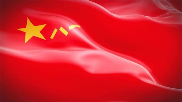 建军节鲜红八一军旗迎风飘扬LED动态背景视频素材
