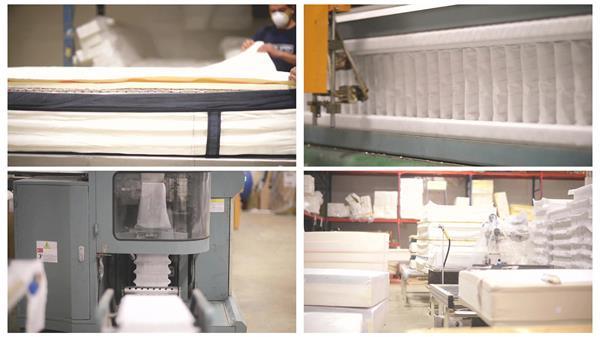 床上用品床垫制造生产加工全过程展现企业专业形象宣传高清视频实