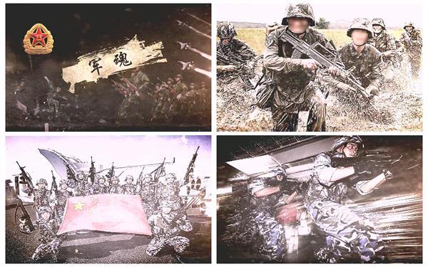 AE模板 复古滤镜效果震撼八一建军节部队动作军队揭示模版 AE素材