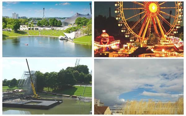 城市旅游景点风光建筑自然景色建设摩天轮歌剧院高清视频延时摄影