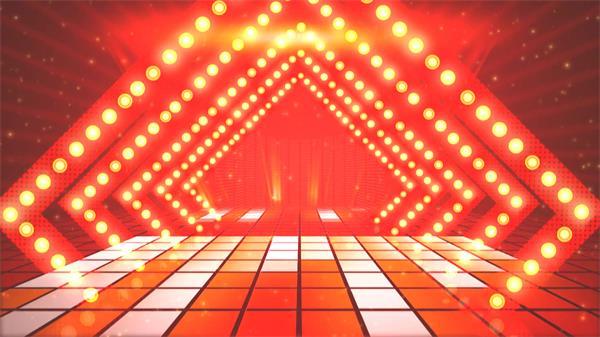 炫光动感舞台背景格子灯光变化闪烁粒子星光射线渲染视频素材