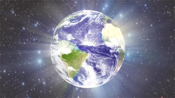 炫光地球旋转恒星粒子LED动态背景视频素材