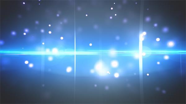 华丽炫光蓝色唯美粒子飘浮刺眼光效光点LED屏幕背景视频素材
