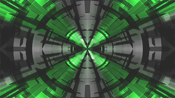 抽象炫光穹顶翘曲神秘探索变幻LED屏幕背景视频素材