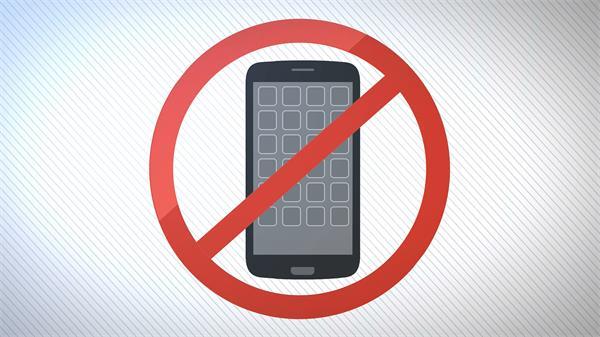现代公共场合智能展示禁止手机使用标识LED背景视频素材