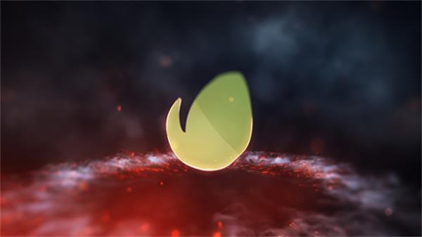 AE模板 震撼大气烟雾火焰金属质感火花粒子进场LOGO标记模板 AE素