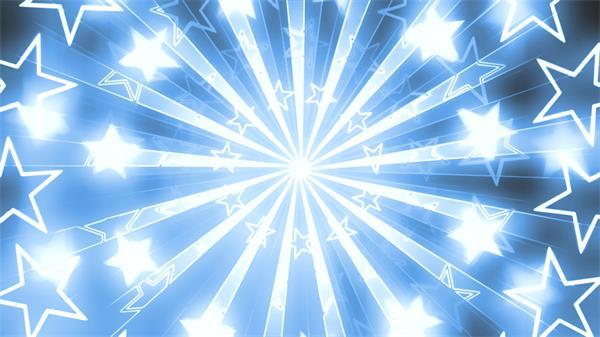 波光粼粼光效星星循環旋轉線性射線背景動感絢麗背景視頻素材