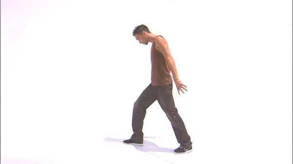 活泼跳动白色配景舞者活动仔细舞蹈动感唯美姿势展示高清视频实拍