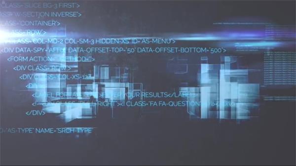AE模板 网络数据传输科技变换快速编码标题幻灯片揭示模版 AE素材
