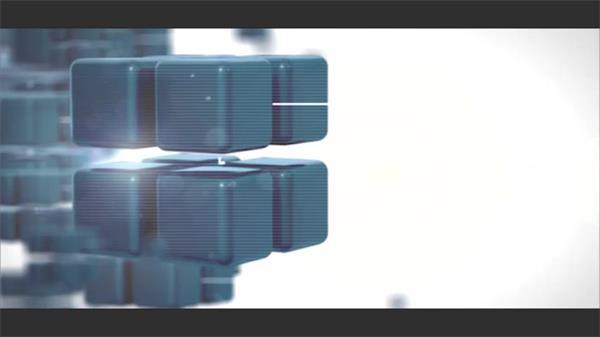 AE模板 未来科技智能化立方体毛刺切换弹出图文展示模版 AE素材
