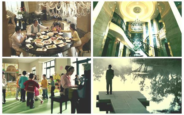 温馨美满家庭欢乐时光儿童学习跳舞成功人士房地产宣传高清视频实