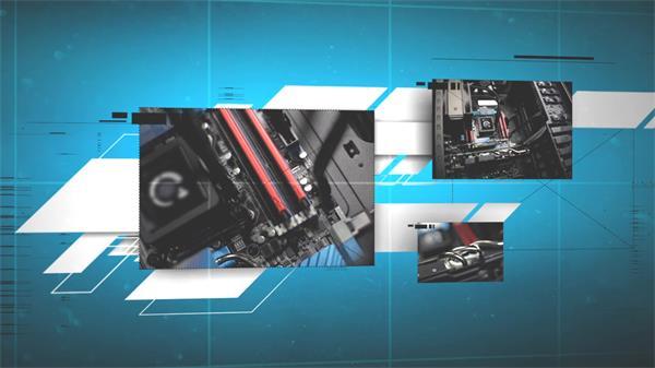 AE模板 三维空间动感滑动切换科技智能效果幻灯片揭示模板 AE素材