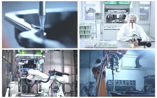 科学发展制造工业生产人员研究机械化生产线高清视频延时实拍