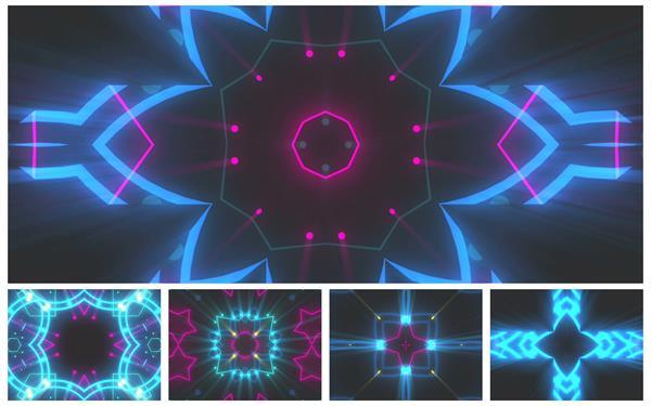 华丽时尚光效动感灯光闪烁变幻派对LED舞台背景动态视频素材