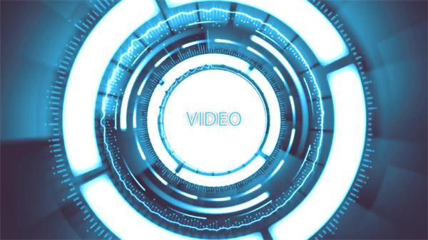AE模板 大气科幻光效镜头效果旋转淡出切换渲染LOGO模板 AE素材