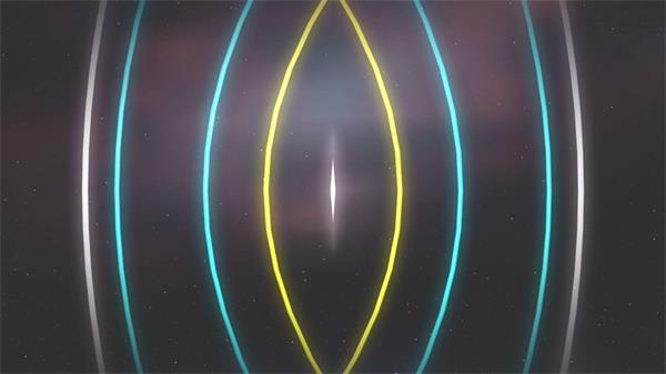 动感中心散开弧形色彩线性快速变化切换波纹效果背景视频素材