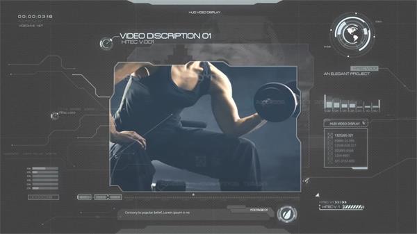 AE模板 超强高科技移动切换图片注释科幻效果片头模板 AE素材