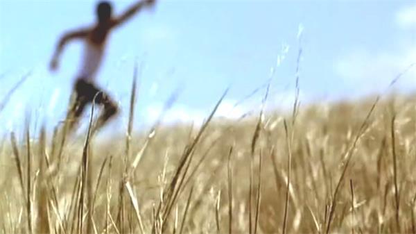男子?#27835;?#28779;炬奔跑人民牵手奔向夕阳欢乐喜庆跳跃高清视频实拍