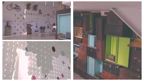 现代化时尚企业装饰古典工艺品陈列展示建筑风格高清视频实拍