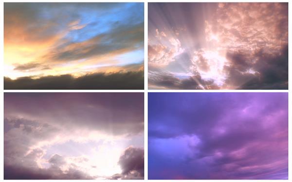 如画般美丽天空云层移动变幻阳光渲染氛围景色高清视频实拍