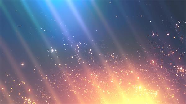 魔幻宇宙星空场景火光碎片粒子飘浮斜射线唯美舞台配景视频素材