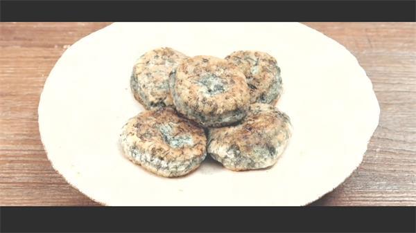 美味香煎草頭餅烹飪制作方法食材擺設專業高清視頻拍攝