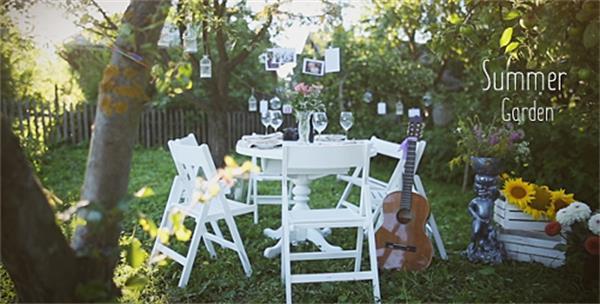 AE模板 唯美花园场景悬吊切换相片婚礼开场片头模板 AE素材