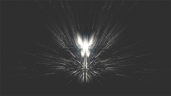 动感炫光流体光效线性上下摆动变化闪烁效果背景视频素材
